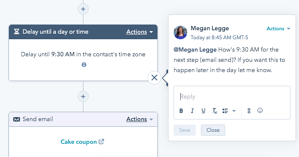 Workflow mentions